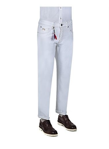 D'S Damat Slim Fit Denim Pantolon Beyaz